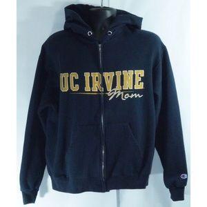 Champion  UC Irvine Distressed Graphic ZIP Hoodie